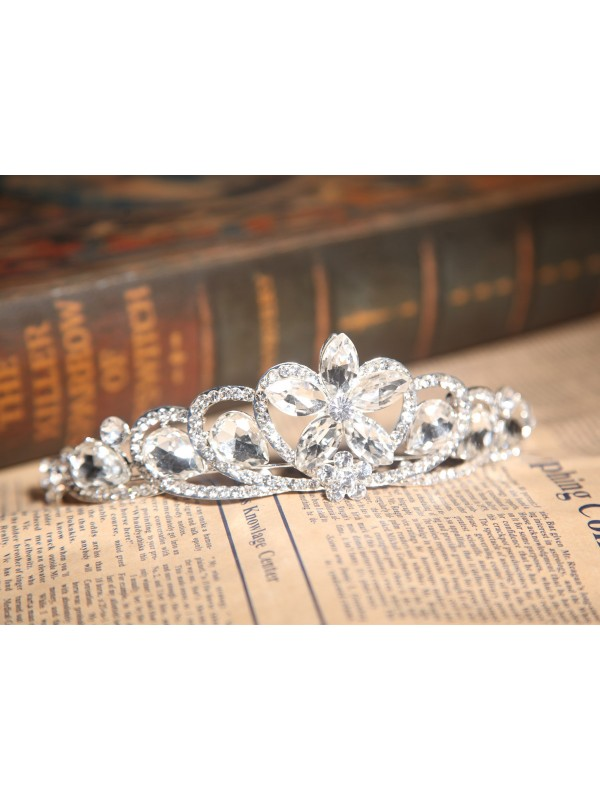 Amazing Alloy With Czech Rhinestones Wedding Headpieces