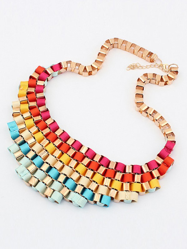 Ocorrente Hiperbólico Colorido Elegante Street shooting All-match Hot Sale Necklace